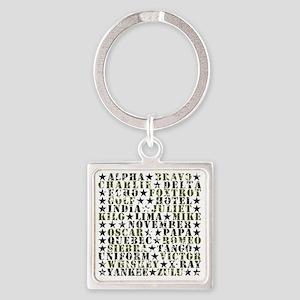 CamoABCs Square Keychain