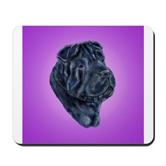 Black Shar Pei Mousepad