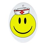 Registered Nurse Happy Face Ornament (Oval)
