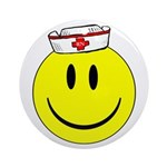 Registered Nurse Happy Face Ornament (Round)