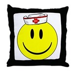 Registered Nurse Happy Face Throw Pillow