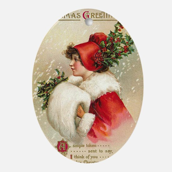 Greetings Oval Ornament