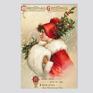 Vintage christmas postcards cafepress greetings postcards package of 8 m4hsunfo