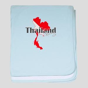Thailand Diver baby blanket