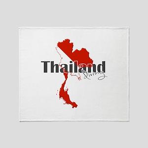 Thailand Diver Throw Blanket