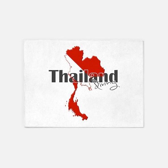 Thailand Diver 5'x7'Area Rug