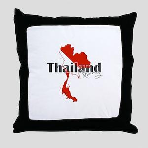 Thailand Diver Throw Pillow