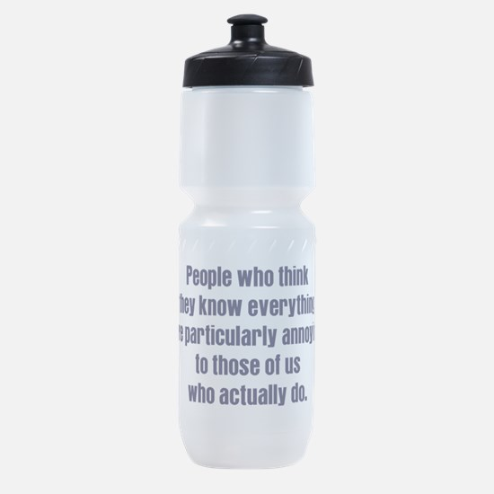 know everything Sports Bottle