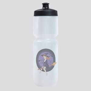 Red Headed Witch Sports Bottle