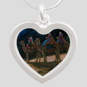 ThreeWiseMen3 Silver Heart Necklace