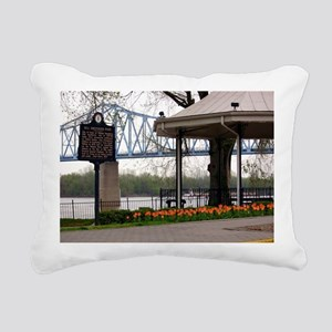 Owensboro KY  Note Card  Rectangular Canvas Pillow