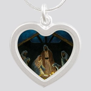 The Nativity Silver Heart Necklace