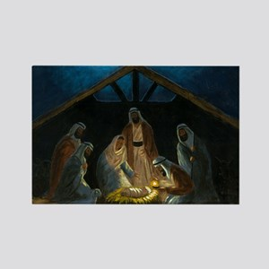 The Nativity Rectangle Magnet