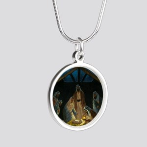 The Nativity Silver Round Necklace