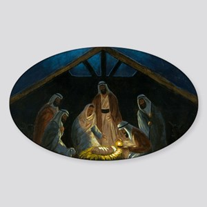 The Nativity Sticker (Oval)