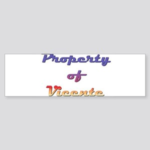 Property Of Vicente Male Sticker (Bumper)