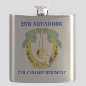 2-7 CAV RGT WITH TEXT Flask