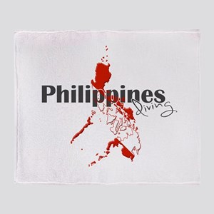 Philippines Diver Throw Blanket