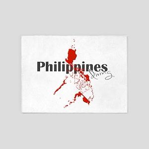 Philippines Diver 5'x7'Area Rug
