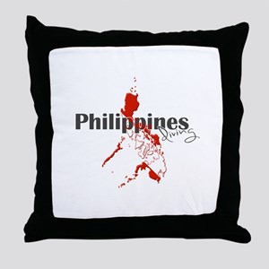 Philippines Diver Throw Pillow