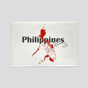 Philippines Diver Rectangle Magnet