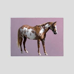Pinto horse 5'x7'Area Rug