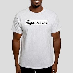 Night Person Ash Grey T-Shirt