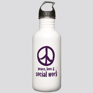 PeaceSign12x12 Stainless Water Bottle 1.0L