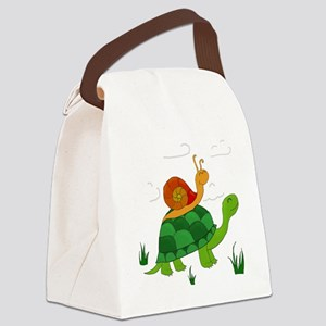 turtle and snail Canvas Lunch Bag
