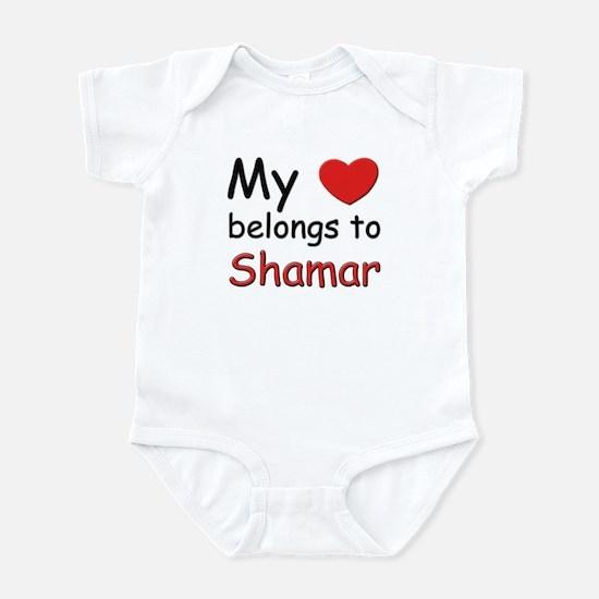 My heart belongs to shamar Infant Bodysuit
