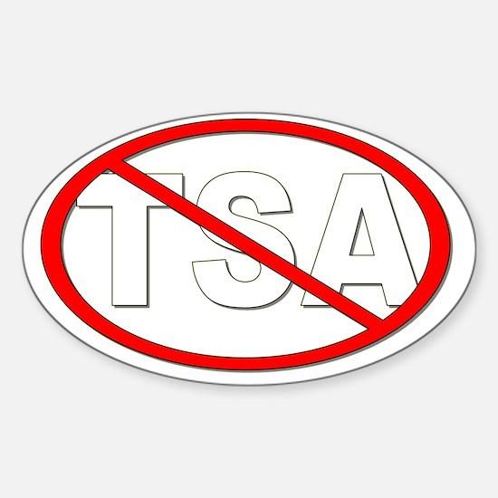 anti-TSA_White Sticker (Oval)