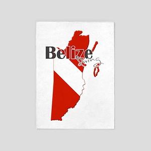 Belize Diving 5'x7'Area Rug