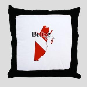 Belize Diving Throw Pillow