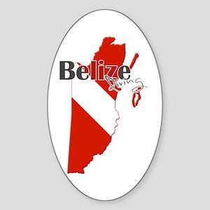 Belize Diving Sticker (Oval)