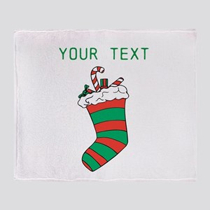 Christmas - HERE YOUR TEXT Throw Blanket