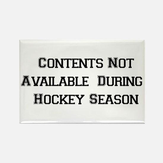 Hockey Season Rectangle Magnet