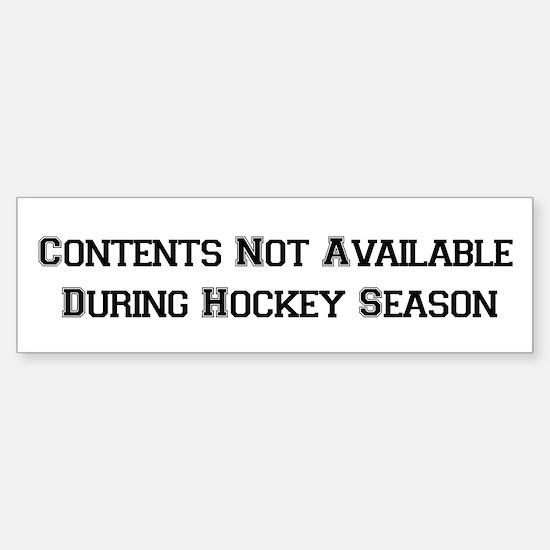 Hockey Season Bumper Bumper Bumper Sticker