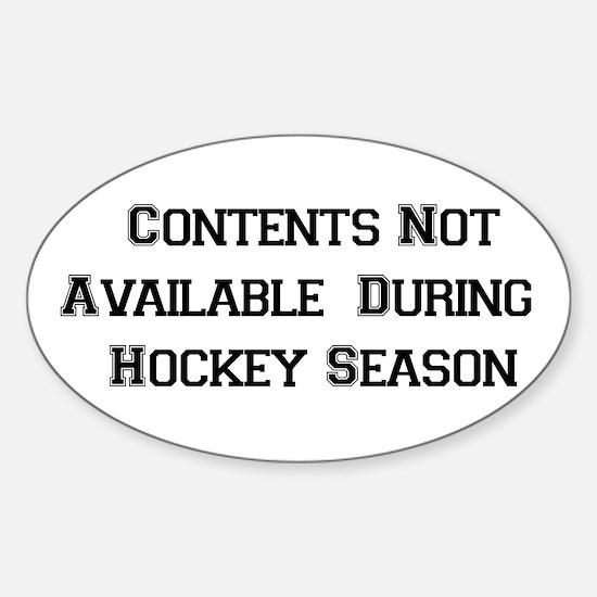 Hockey Season Oval Decal
