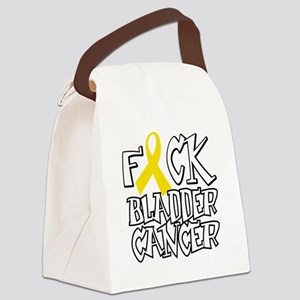 Fuck-Bladder-Cancer-blk Canvas Lunch Bag