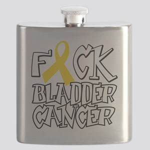 Fuck-Bladder-Cancer-blk Flask