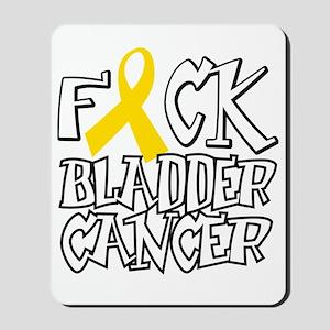 Fuck-Bladder-Cancer-blk Mousepad