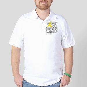 Fuck-Bladder-Cancer-blk Golf Shirt