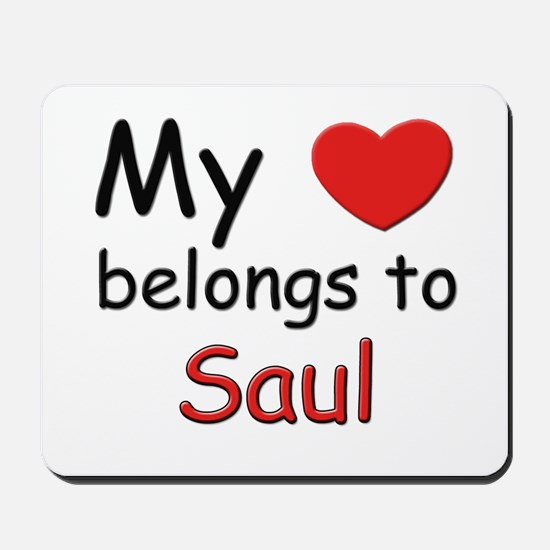 My heart belongs to saul Mousepad