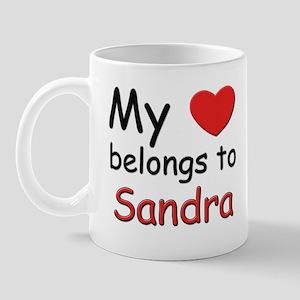 My heart belongs to sandra Mug