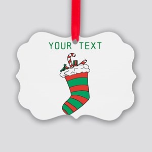 Christmas - HERE YOUR TEXT Ornament
