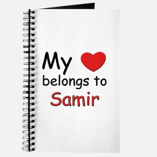 My heart belongs to samir Journal