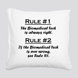 Rule Biomedical Tech Square Canvas Pillow