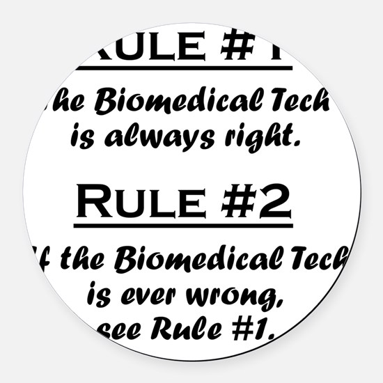 Rule Biomedical Tech Round Car Magnet