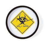 CO2 = WMD BioHazard Wall Clock