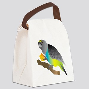 muzi on perch Canvas Lunch Bag